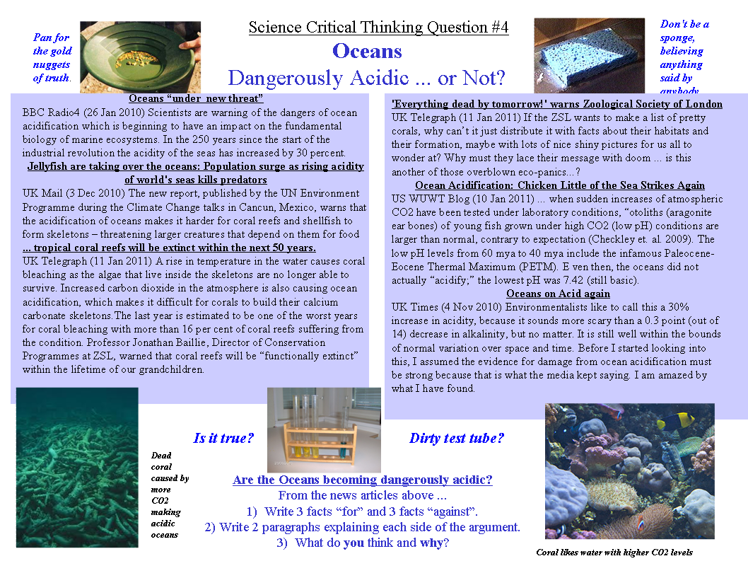 critical thinking science questions Teaching critical thinking although critical thinking skills are given limited explicit attention in standards for medical education, they are included as a key competency in most frameworks for national curriculums for primary and secondary schools in many countries18 nonetheless, much health and science education, and education.