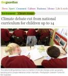 Climate change cut from 2013 British school curriculum and tests