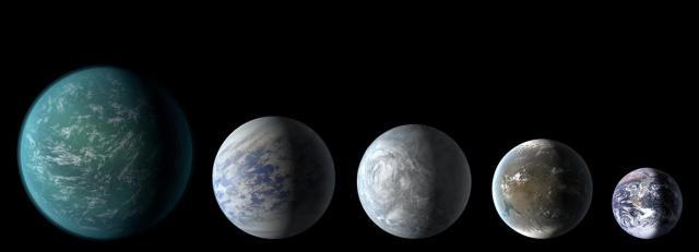 Kepler 5 Earth-like planets line-up April 2013