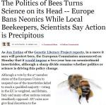 More than Honey - EU-Green power politics squashes bee science