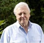 David Attenborough smiles at his human plague