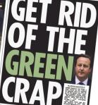 Green Crap - UKs prime minister is feeling the public pressure too