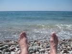 Lardos Beach. southern Rhodes, Greece - 11am Tues 17 July 2014