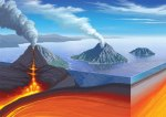 Volcanic Island Arc fromed from microcontinents converged onto ancient cratons