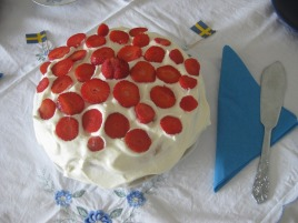 Swedish midsummer strawberry cream sponge cake Yum