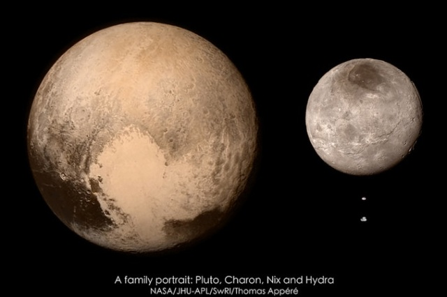 Pluto Charon Nix and Hydra
