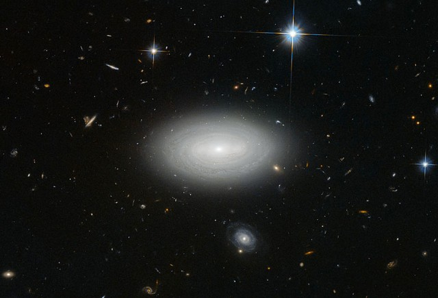 Leda 1852 galaxy - the lonliest void galaxy