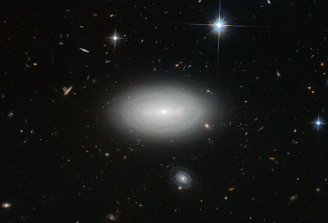 Leda 1852 galaxy - the lonliest void galaxy