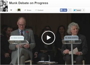 World is much better now and will continue - Ridley and Pinker win debate