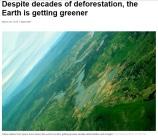 Biosphere Biomass increasing