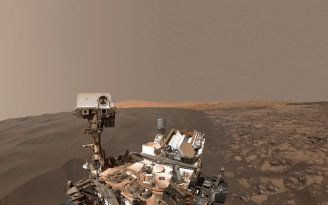 Curiosity Selfie - Namib Dune - January 2016