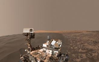 Curiosity Selfie - Namib Dune - January 2016