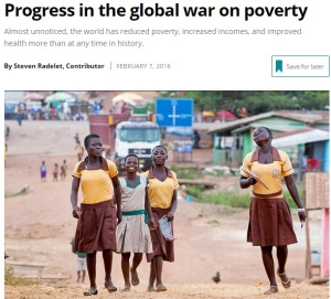 Poverty declining rapidly