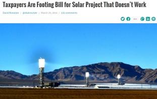Californian Solar Mirror Power Plant broken