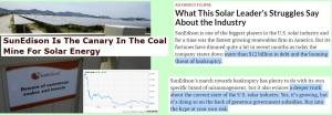 Solar Stocks Suddenly Subsiding - Is the future solar or shale