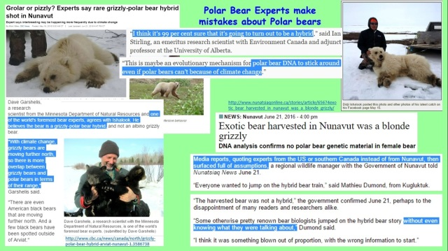 Polar Bear Scientists - promoting fear instead of facts