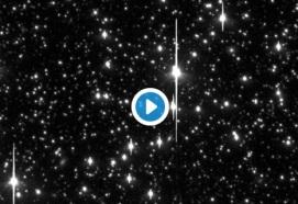 Asteroid crossing star field