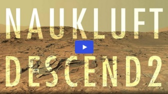 Naukluft Plateau descent by the Mars Rover Curiosity 2